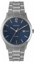 Sekonda 3728 Gents Quartz Analogue Date Stainless Steel 50m w/r Watch